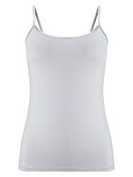 Phase Eight Satin Binding Camisole Silver Metallic