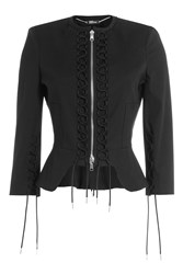 Alexander Mcqueen Jacket With Lace Up Detail Black