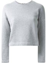 Fad Three Boxy Sweatshirt Grey