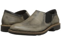 Naot Footwear Director Vintage Gray Leather Jet Black Leather Men's Slip On Shoes Green