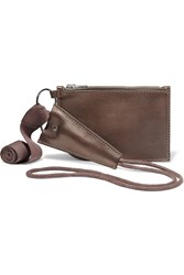 Rick Owens Leather Pouch Brown