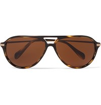 Oliver Peoples Braedon Aviator Style Acetate And Gold Tone Sunglasses Tortoiseshell
