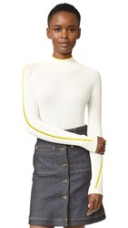 Carven Turtleneck With Side Seams Ecru