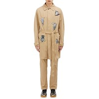 Loewe Robot Patch Belted Trench Coat Beige Tan