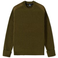 Paul Smith Ribbed Military Crew Knit Green