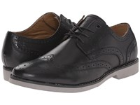 Hush Puppies Fowler Ez Dress Black Leather Men's Lace Up Wing Tip Shoes