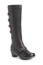 Jambu 'Firery' Water Resistant Knee High Buckle Boot Black
