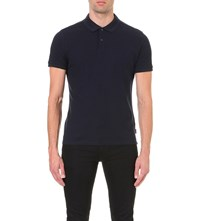 Calvin Klein Jacob Cotton Pique Polo Shirt Navy