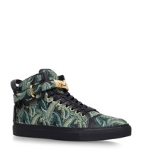 Buscemi 100Mm Palm High Top Sneakers Male Green