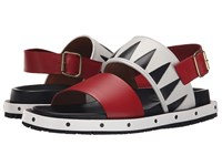 Marni Geometric Calf Leather Sandal White Men's Sandals