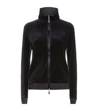 Escada Sport Leaf Velour Sweatshirt Female Black