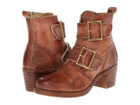 Frye Sabrina Double Buckle Saddle Montana Stone Wash Cowboy Boots Brown