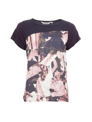 Garcia Printed Top Navy
