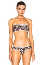 Same Swim Babe Bandeau Bikini Top In Animal Print Brown