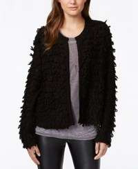 Material Girl Juniors' Loop Knit Cardigan Caviar Black