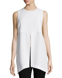 Elizabeth And James Didi Sleeveless Center Slit Tunic Ivory