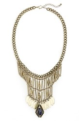 Junior Women's Bp. Metal Tassel And Stone Statement Necklace