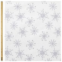 John Lewis Linen Look Snowflake Fabric Natural Grey
