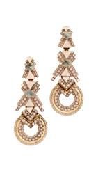 Elizabeth Cole Xo Earrings Blush