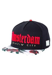 Cayler And Sons Amsterdam Cap Black Concrete Roses Red