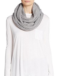 Vince Camuto Cable Knit Infinity Scarf Jersey Heather