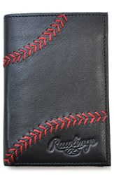 Rawlings Sports Accessories Men's Baseball Stitch Leather Money Clip Wallet
