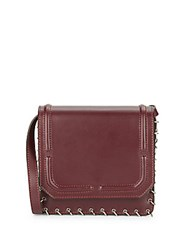 Dannijo Lypton Chain Detail Leather Crossbody Bag Oxblood