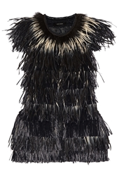Isabel Marant Cadzi Feather And Faux Raffia Vest