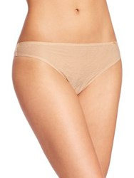Chantelle Velvet Touch Seamless Thong China Blue Suede