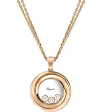 Chopard Happy Emotions 18Ct Rose Gold And Diamond Pendant