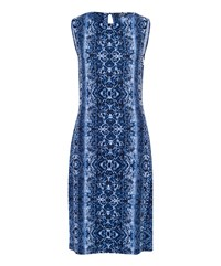 Olsen Snake Print Dress Navy