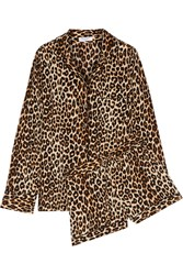 Equipment Liliane Leopard Print Washed Silk Pajama Set