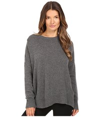 The Kooples 100 Cashmere Sweater With Destroy Details Gray
