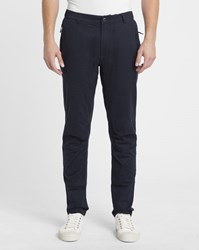 Nowadays Navy Flap Pocket Tapered Fit Chinos Blue