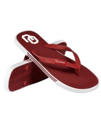 Forever Collectibles Oklahoma Sooners Thong Sandals Crimson Cream