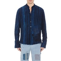 Greg Lauren Patchwork Studio Shirt Navy