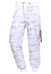 Alpha Industries X Fit Tracksuit Bottoms White