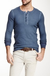 Rogue Long Sleeve Thermal Henley Blue
