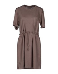 Le Mont St Michel Short Dresses Dove Grey