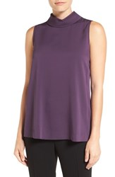 Classiques Entierr Women's Entier Sleeveless Double Georgette Cowl Neck Top Purple Night