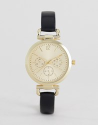 New Look Gold Link Detail Watch Black
