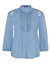 Hallhuber Three Quarter Sleeve Tunic Ice Blue