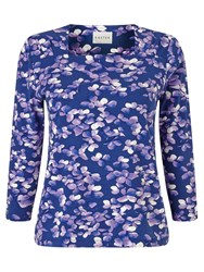 Eastex Mayfair Blossom Jersey Top Multi Coloured
