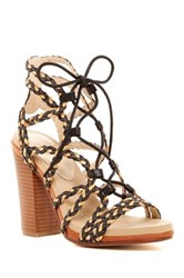Groove Addison Braided Chunky Sandal Black