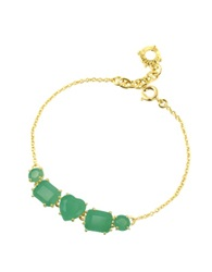 Les Nereides La Diamantine 5 Glass Beads Bracelet Green