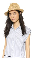 Hat Attack Chunky Crochet Fedora Natural Navy