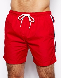 Brave Soul Footie Swim Shorts Red