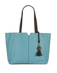 Nanette Lepore Leah Leather Tote Seaglass