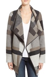 French Connection Women's Geometric Print Blanket Coat