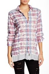 3J Workshop Embroidered Crinkled Blouse Multi